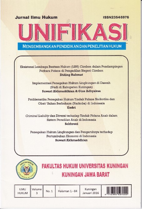 "Jurnal FH ""Unifikasi"" Terindeks Sinta"