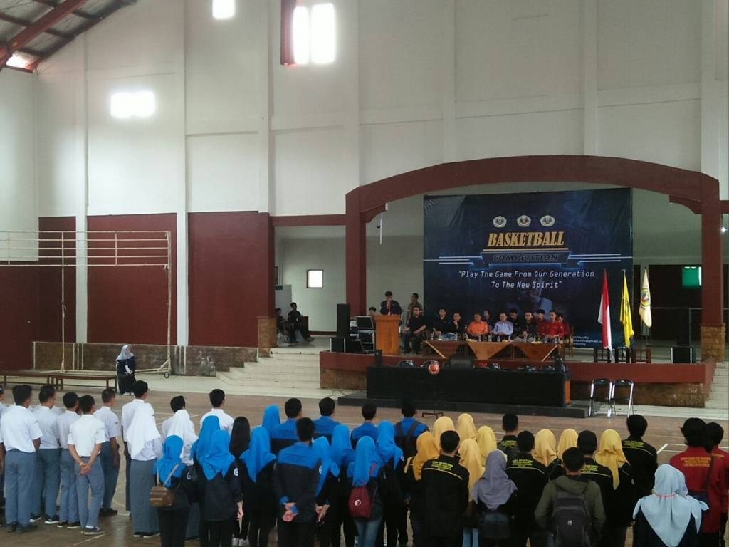 Rektor Buka Kompetisi Basket Ball Competition 2018