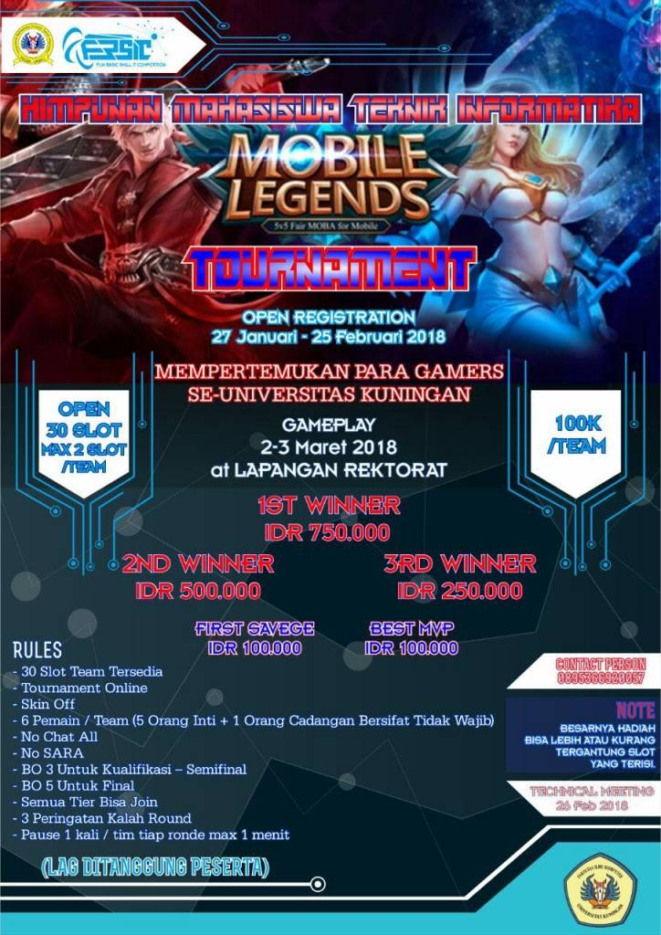 Mobile Legends Bakal Dikompetisikan Hima TI