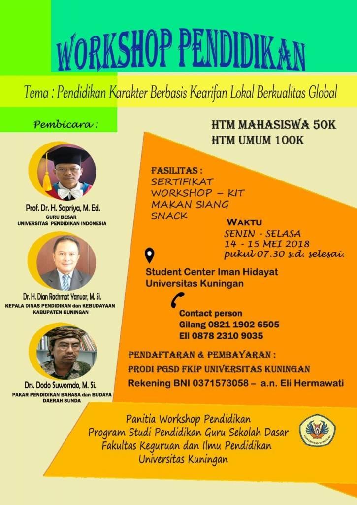 Prodi PGSD Bakal Gelar Workshop Pendidikan