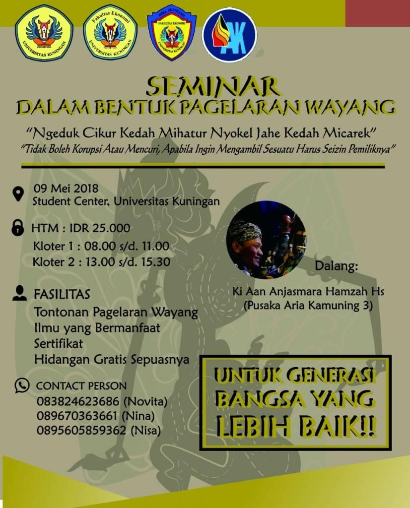 Himaku Bakal Gelar Seminar Dalam Bentuk Pagelaran Wayang