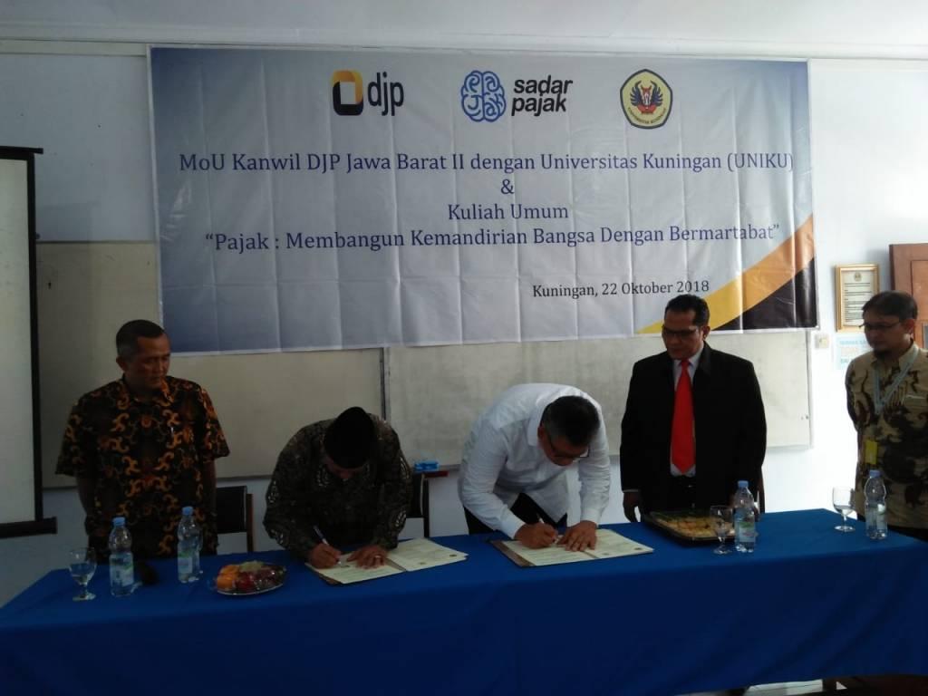 Uniku Teken MoU Dengan Kanwil DJP Jawa Barat II Sekaligus MoA dan Resmikan Tax Center