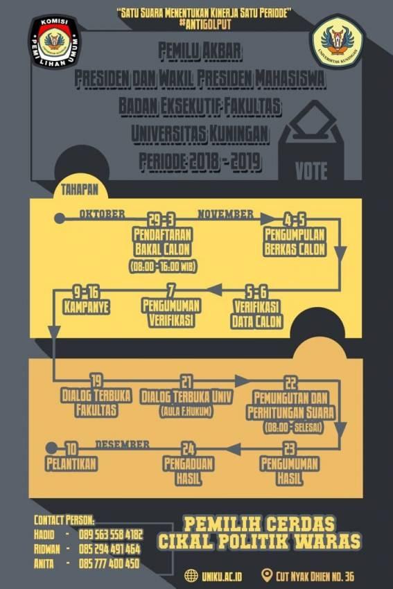 KPU Uniku Sosialisasikan Tahapan Pemilu Akbar 2018